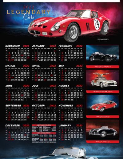 Legendary Cars Poster 2022