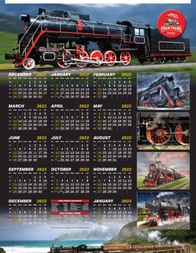 Steam Trains Poster 2022